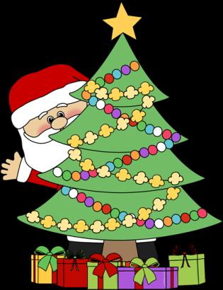santa-behind-christmas-tree_74039116