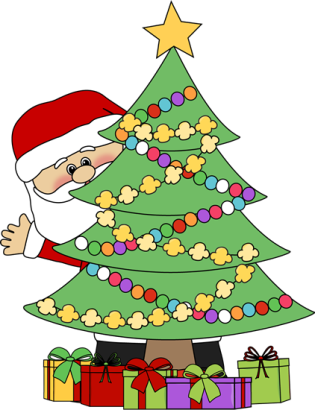 santa-behind-christmas-tree_74039116